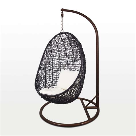 cocoon swing chair black cocoon swing chair white cushion outdoor garden