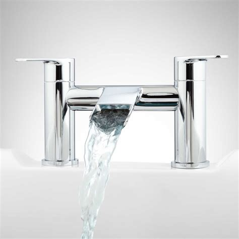 Bathtub Waterfall Faucet | pagosa waterfall deck mount tub faucet ebay