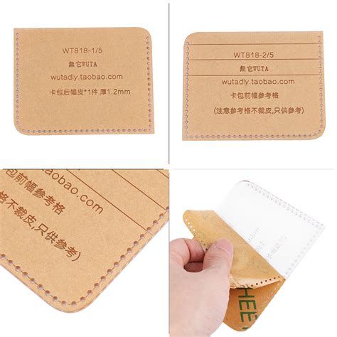 wallet card template handmade clear acrylic leathercraft pattern wallet card