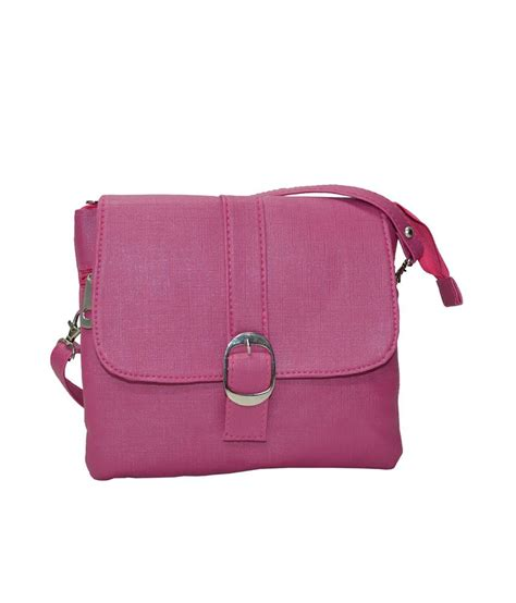 20542 Pink Slingbag buy utsukushii pink pu sling bag at best prices in india snapdeal