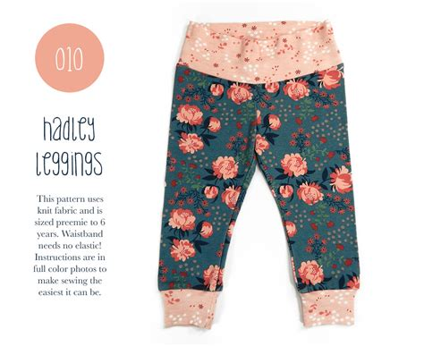pattern for newborn leggings 010 hadley leggings pdf sewing pattern baby or kid toddler