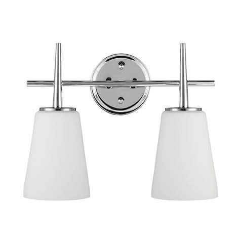 sea gull vanity lighting sea gull lighting driscoll 2 light chrome wall bath vanity