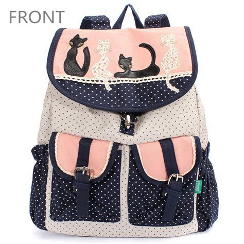 Pocket School Backpack 0318 cat canvas backpack dot drawstring multi pocket school bag us 28 54 sold out