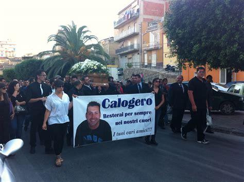 calogero giardina canicatt 236 commozione e strazio per l ultimo saluto a