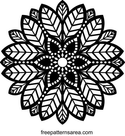 svg pattern patterntransform decorative leaf ornament mandala pattern freepatternsarea