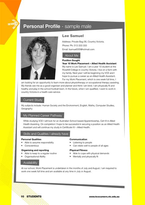 cv examples students uk cv profile examples student personal format