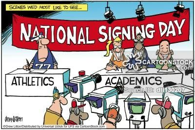 Letter Of Intent Football Scholarship Sports Scholarship And Comics Pictures From Cartoonstock