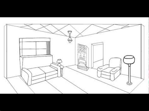 two point perspective living room 2 point perspective drawing living room