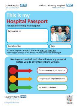 hospital passport template hospital passport template