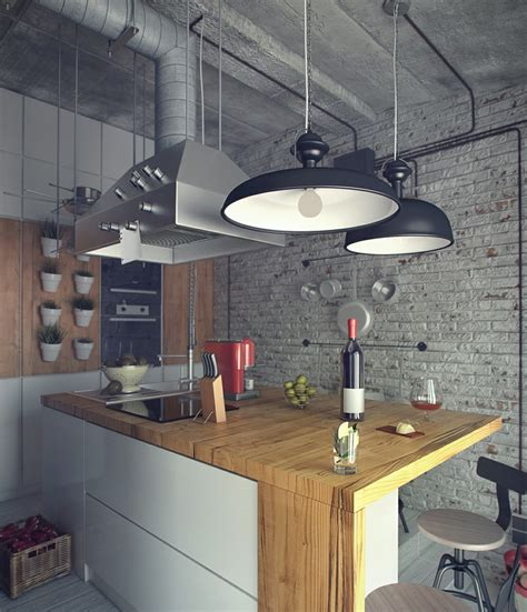 loft kitchen design casual loft style living
