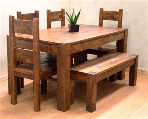 Meja Makan Kayu Pallet model desain meja makan kayu jati minimalis terbaru terbaik