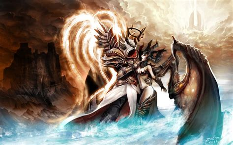 diablo 3 anniversary inarius and lilith by ziom05 on