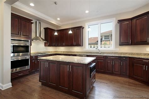 wood kitchen cabinets with wood floors pictures of kitchens traditional wood kitchens