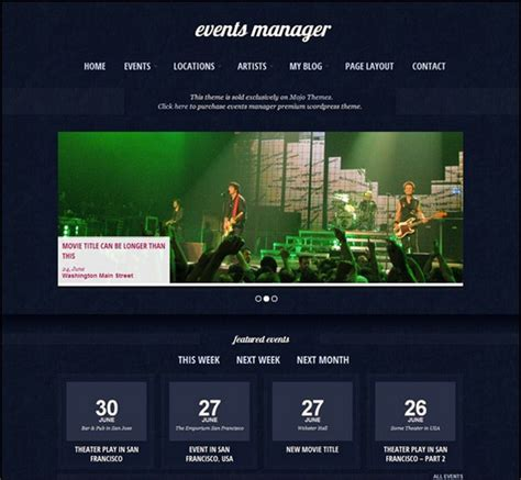 theme music night manager 30 rocking wordpress music themes want more fans