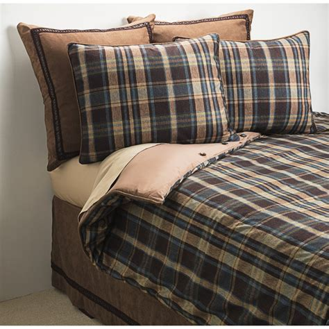 Woolrich Hadley Plaid Bed Set King 7 Piece 4847c Plaid Bed Sets