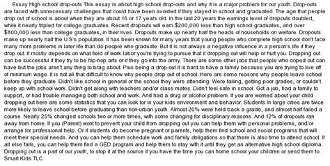 High School Dropouts Essay by Persuasive Essay High School Dropouts South Florida Painless Breast Implants By Dr Paul