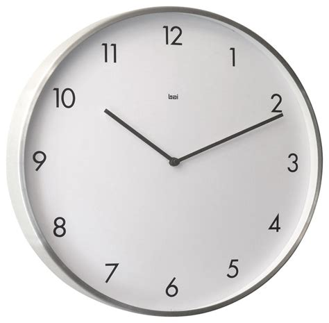 design wall clock futura brushed aluminum designer wall clock wall clocks