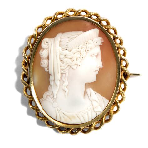 Kamee Kaufen by Goldgefasste Muschelgemme Als Brosche Italien Um 1860