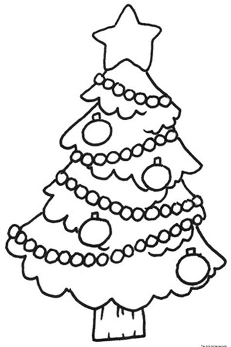 printable decorated christmas tree pictures coloring