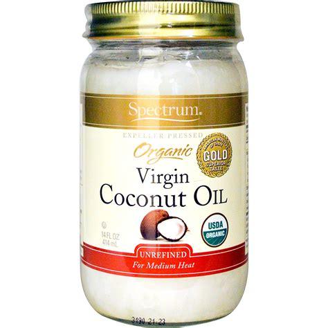 coconut oil spectrum naturals organic virgin coconut oil unrefined