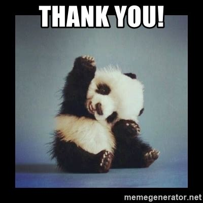 Thanks Baby Meme - thank you cute baby panda meme generator