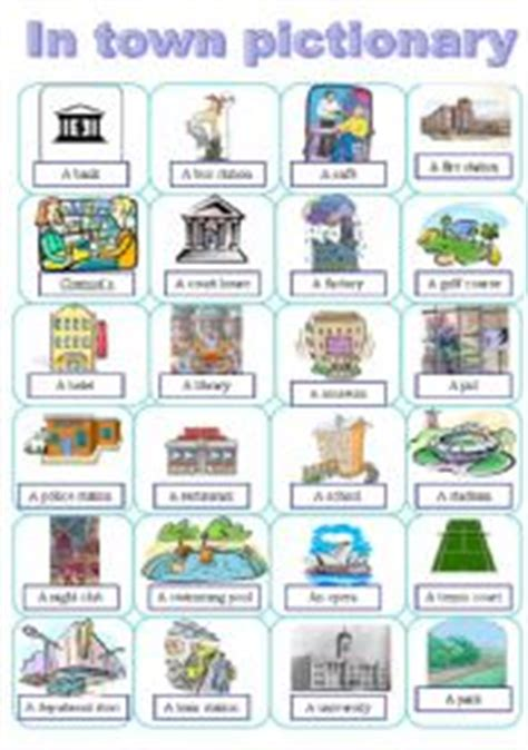shops in my town worksheet free esl printable worksheets english worksheet places in a town pictionary