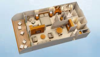 Disneyland Hotel 1 Bedroom Suite Floor Plan disney cruise line staterooms 1 and 2 bedroom concierge suites