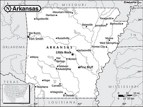 Arkansas County Outline Map by Arkansas Outline Map By Maps From Maps World S Largest Map Store