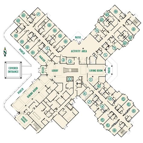 senior housing floor plans senior housing floor plans
