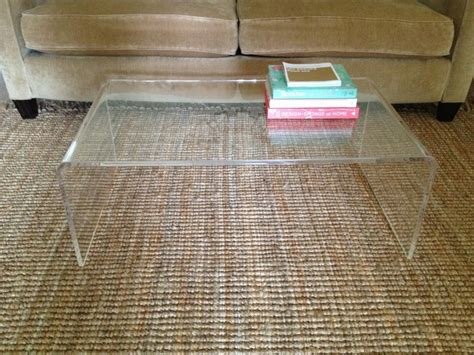 furniture minimalist ghost coffee table without shelf