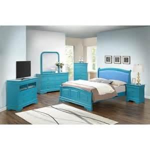 furniture 6 bedroom set in teal g3180c g3180