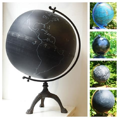 chalkboard paint globe 33 things you can turn into chalkboards
