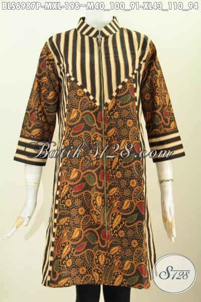 desain baju batik ibu ibu til keren dengan desain baju batik kantor wanita