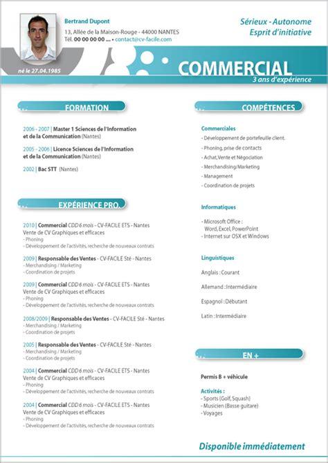 Conseil Lettre De Motivation Commercial modele cv commercial cv anonyme