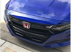 2018 Still Night 2.0T Accord: Gentlemen's Type R - Drive ... Red Honda Emblem