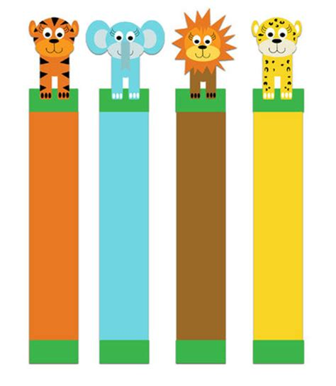 printable animal bookmarks jungle critter bookmarks to print craft found