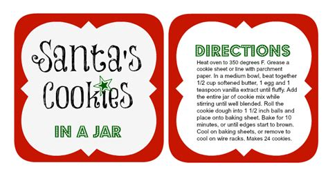 printable mason jar cookie labels 5 diy holiday baked gifts in a jar with free printable