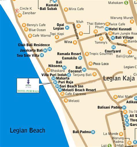 location map  legian beach kuta bali island bali