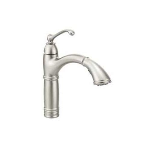 moen white single handle high arc kitchen faucet free moen s73709srs brookshire single handle high arc pulldown