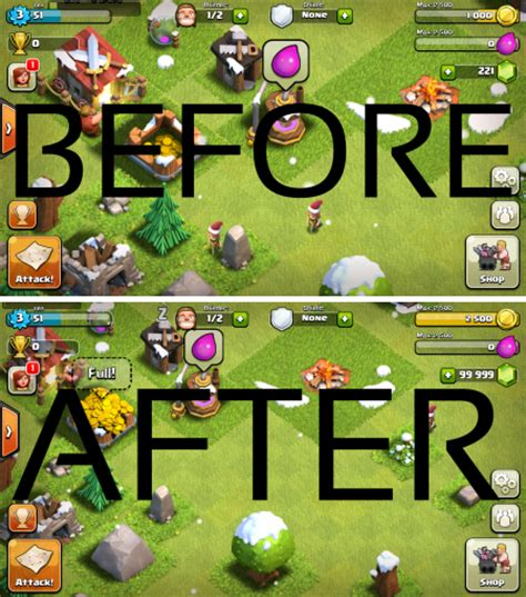 game coc mod 100 work cheat clash of clans coc work 100 no survey 2016 update
