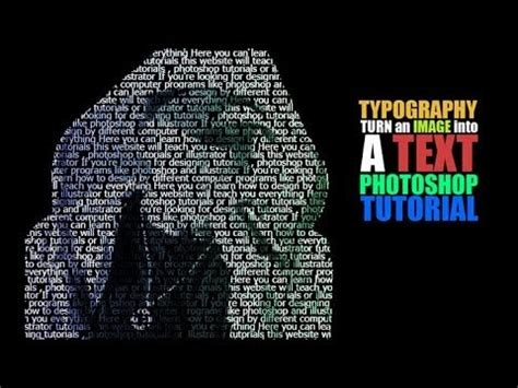 typography tutorial for photoshop typography tutorial turn an image into text in photoshop