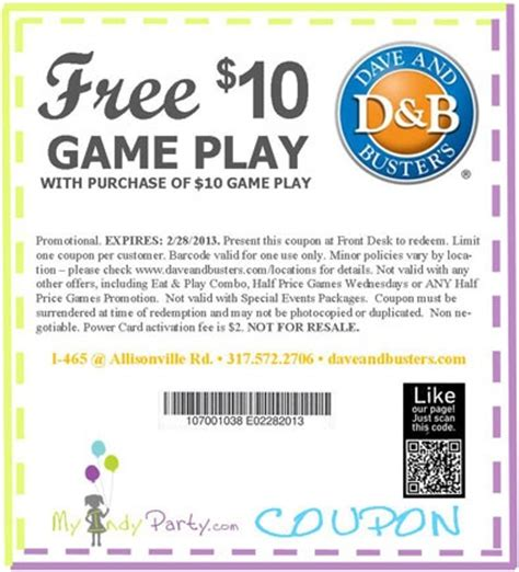dave and busters printable food coupons pinterest the world s catalog of ideas