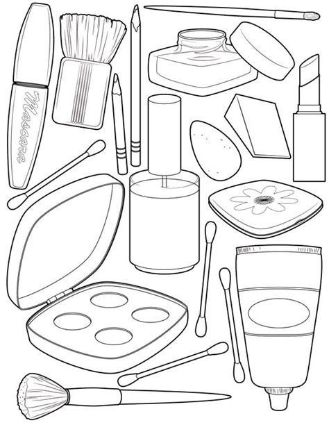 makeup coloring page   coloring pages   Pinterest