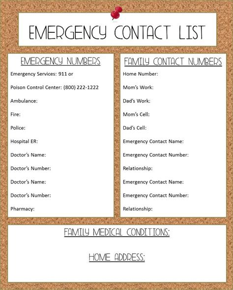 printable phone number cards 17 best images about phone emergency contacts on pinterest