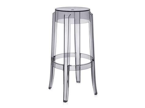 kartell bar stools buy the kartell charles ghost bar stool smoke at nest co uk