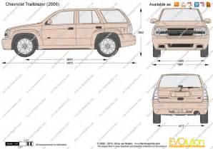 the blueprints vector drawing chevrolet trailblazer