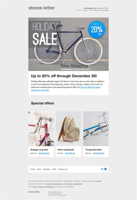 storesletter html email marketing template  sell