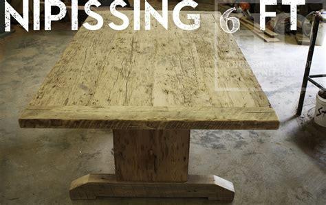custom reclaimed wood table in kitchener ontario