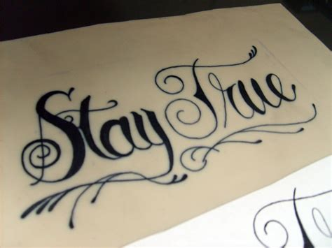 stay true tattoo word virus stay true