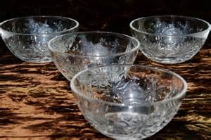 vintage fantasia princess house clear glass dishes set of